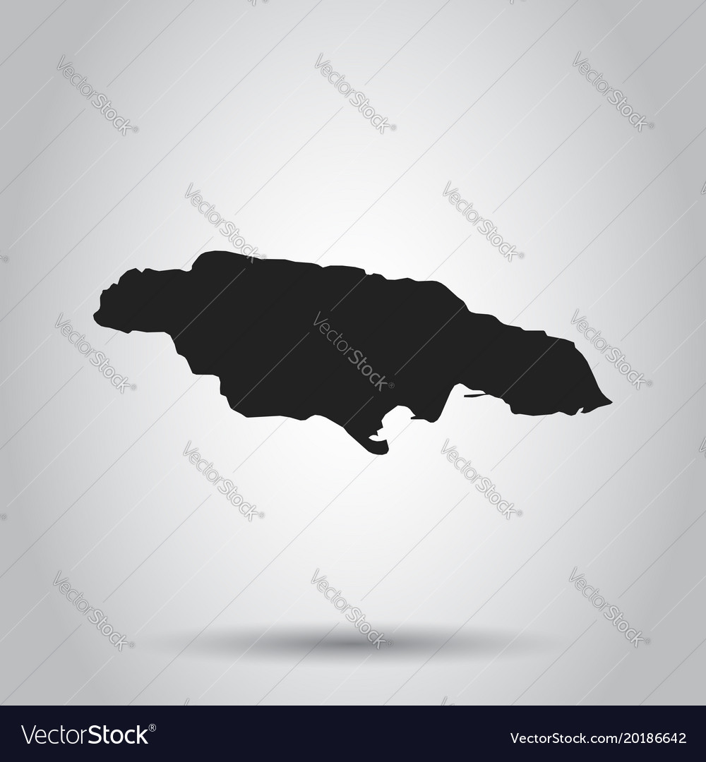 Jamaica map black icon on white background vector image gumiabroncs Images