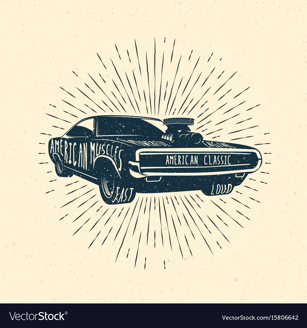 Muscle car vintage styled