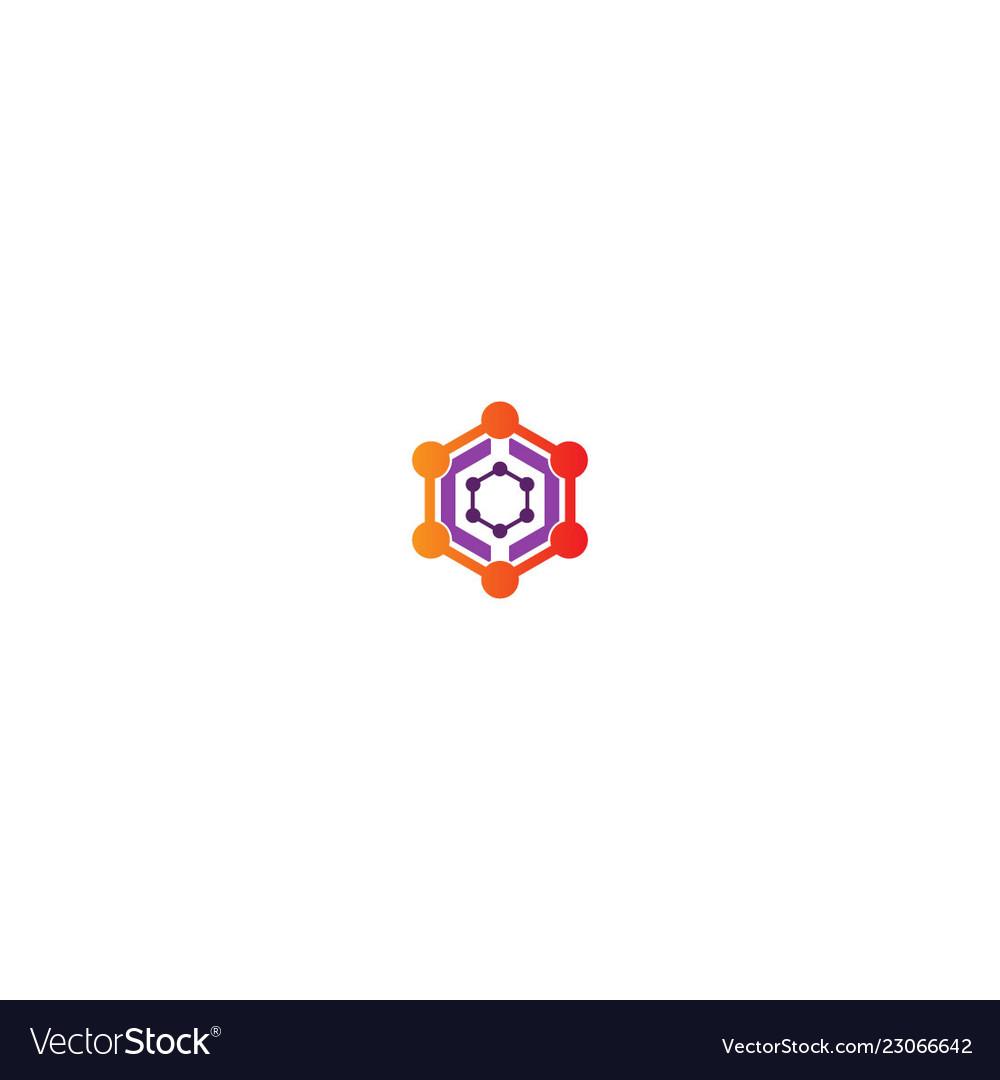 Polygon connection technology logo