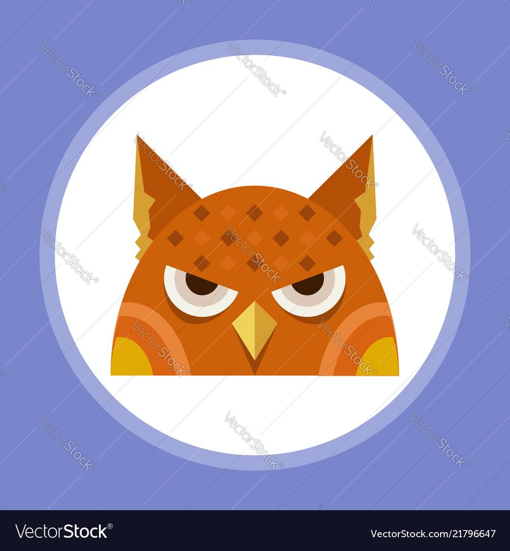 Halloween owl icon sign symbol