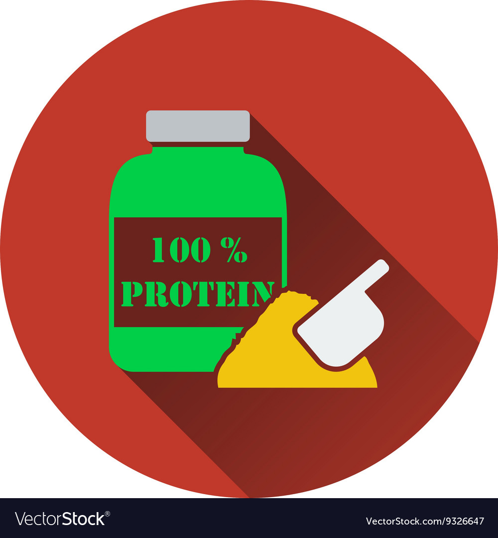 Icon Of Protein Conteiner Royalty Free Vector Image