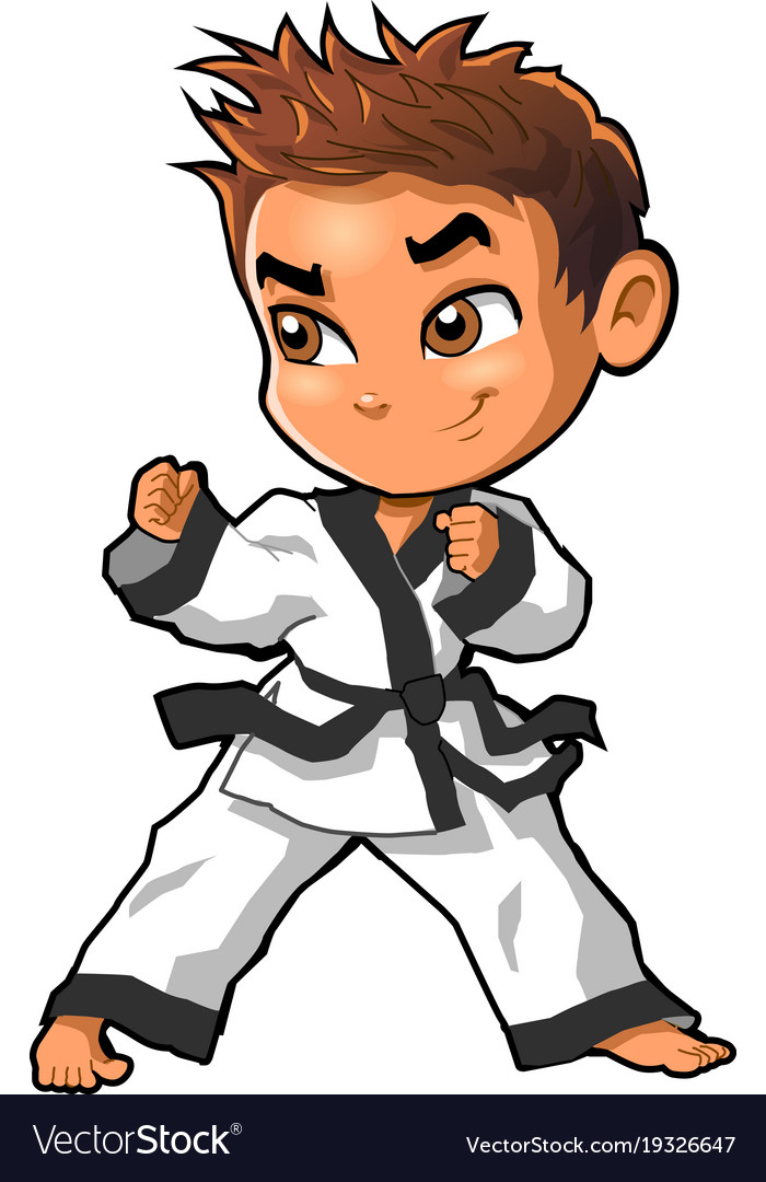 karate martial arts tae kwon do dojo clipart vector image rh vectorstock com karate clipart black and white karate clipart png