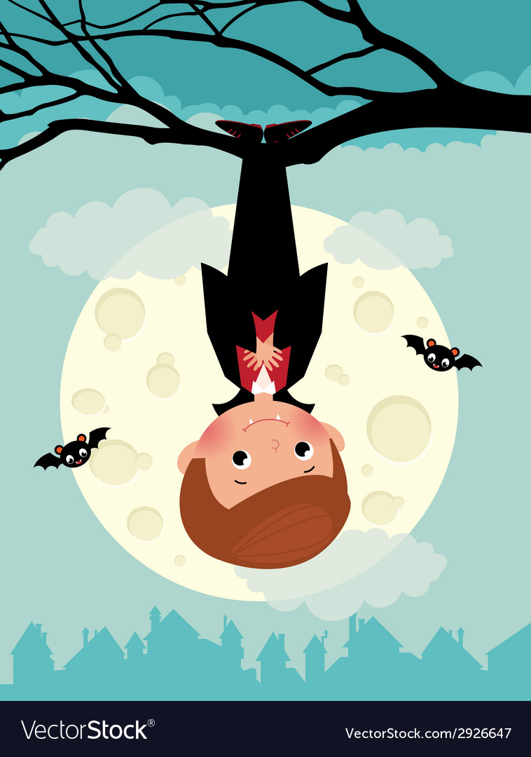 Vampire on Halloween night vector image
