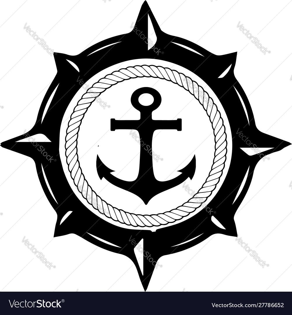 Anchor navy logo design