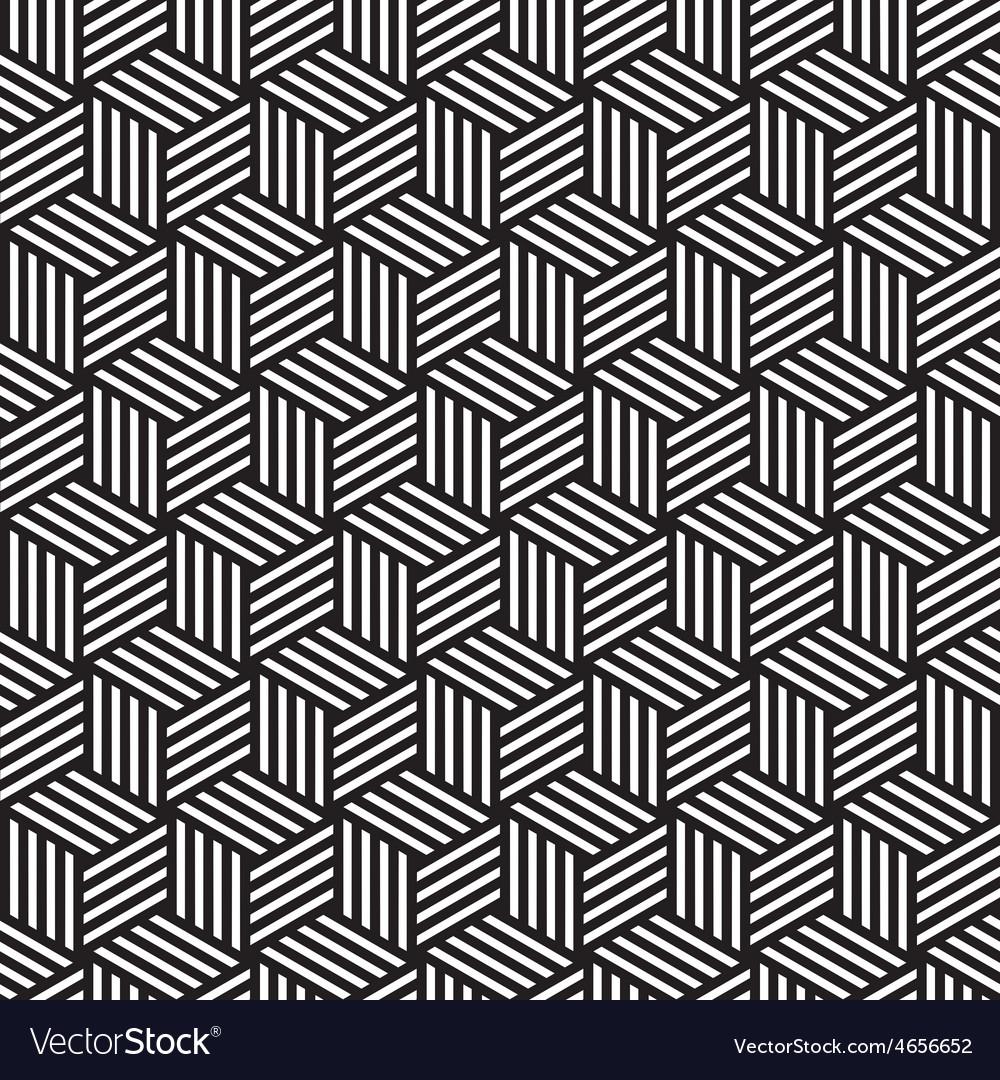 Bold cube pattern background black white