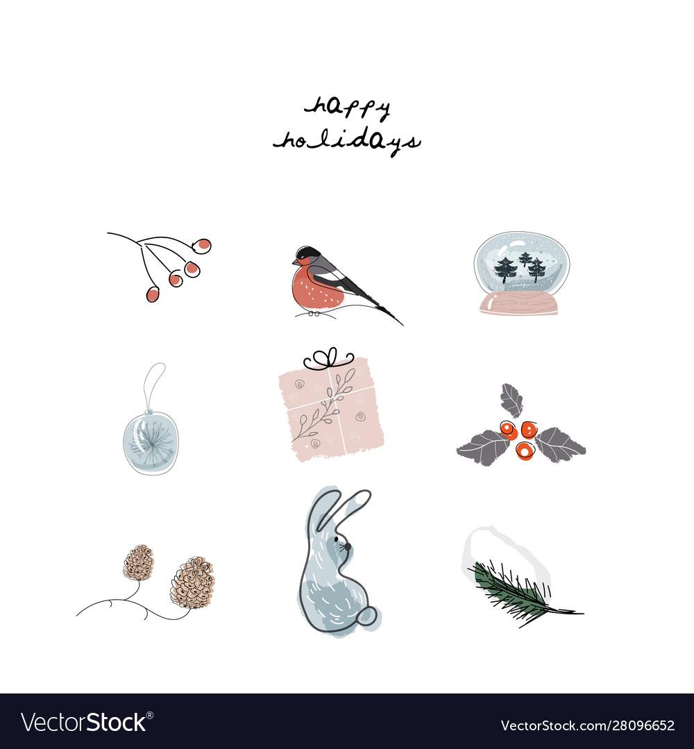 Christmas cute cartoon clipart