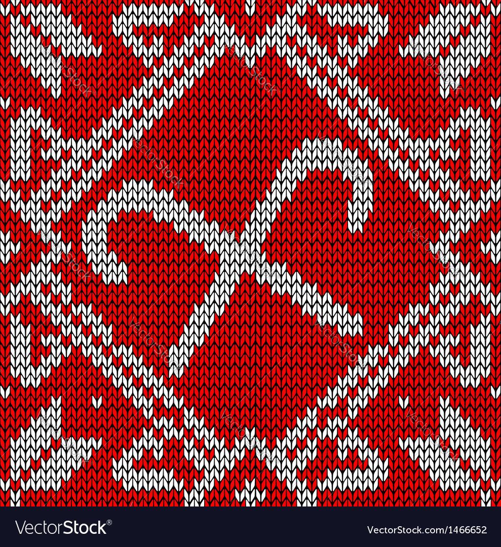Christmas Knitting Sweet Pattern Royalty Free Vector Image