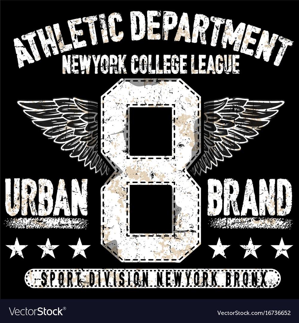College new york typography t-shirt graphics