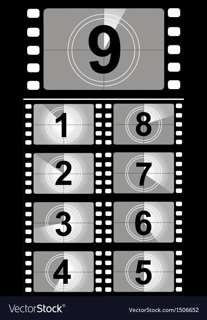 Film Countdown: Film Countdown Numbers Royalty Free Vector Image