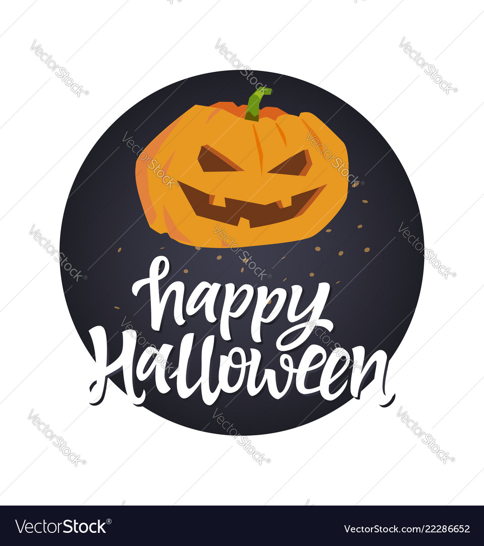 Happy halloween poster - modern colorful