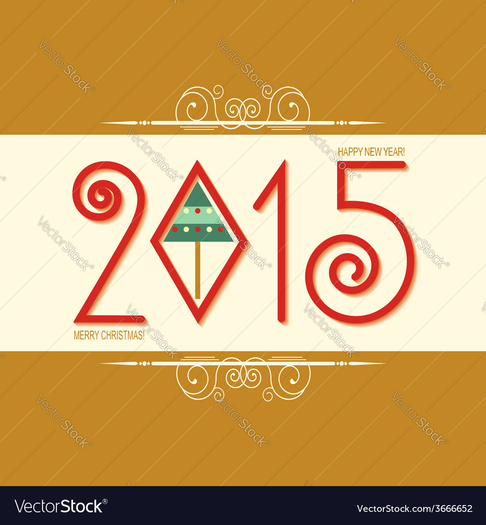 Happy new year card with text greeting card
