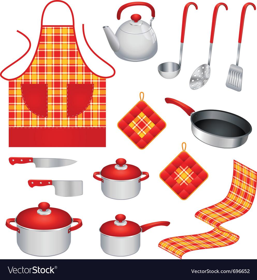 Kitchen utensils Royalty Free Vector Image - VectorStock