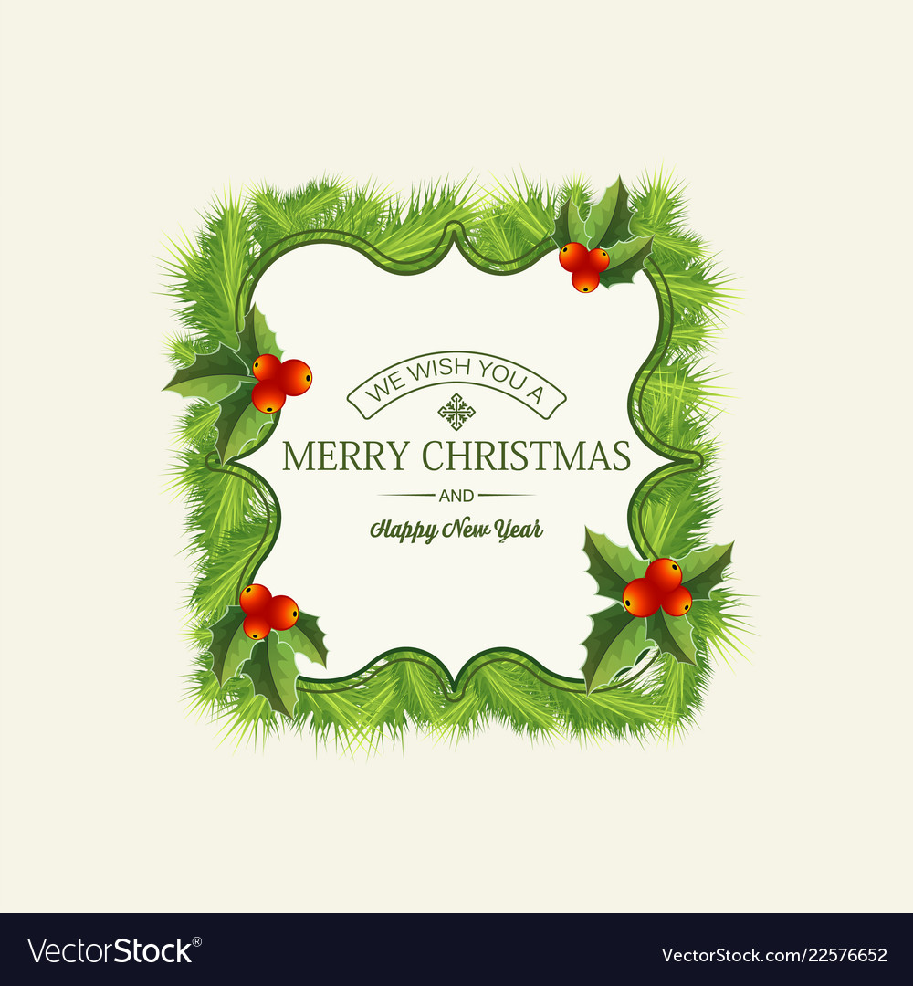 light christmas wreath template royalty free vector image