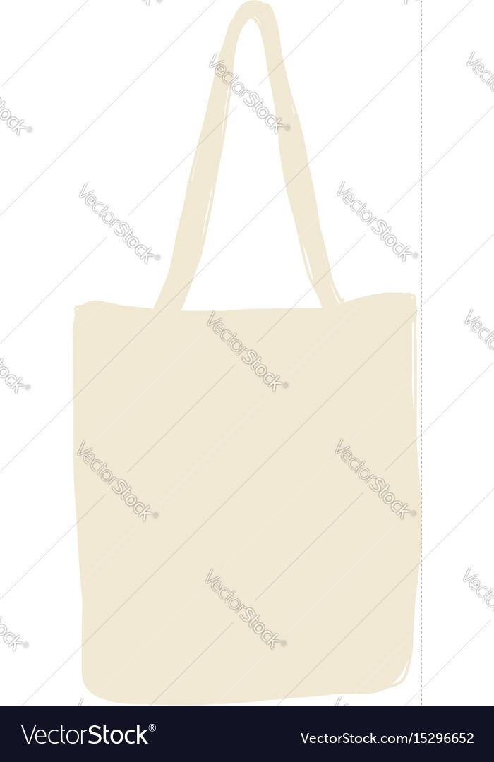 Linen shopping bag sketch for your design