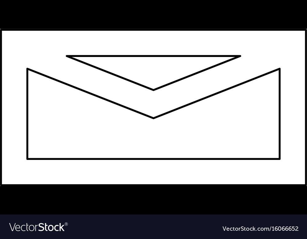 Mail black color path icon vector image