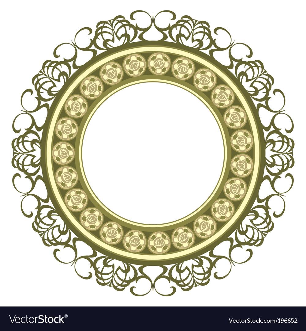 Medallion frame