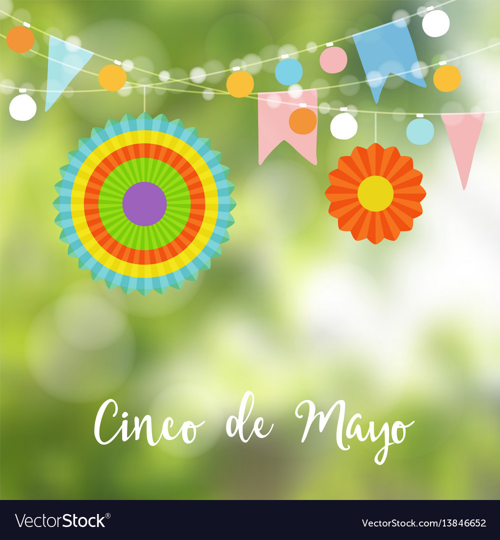 Mexican cinco de mayo greeting card invitation