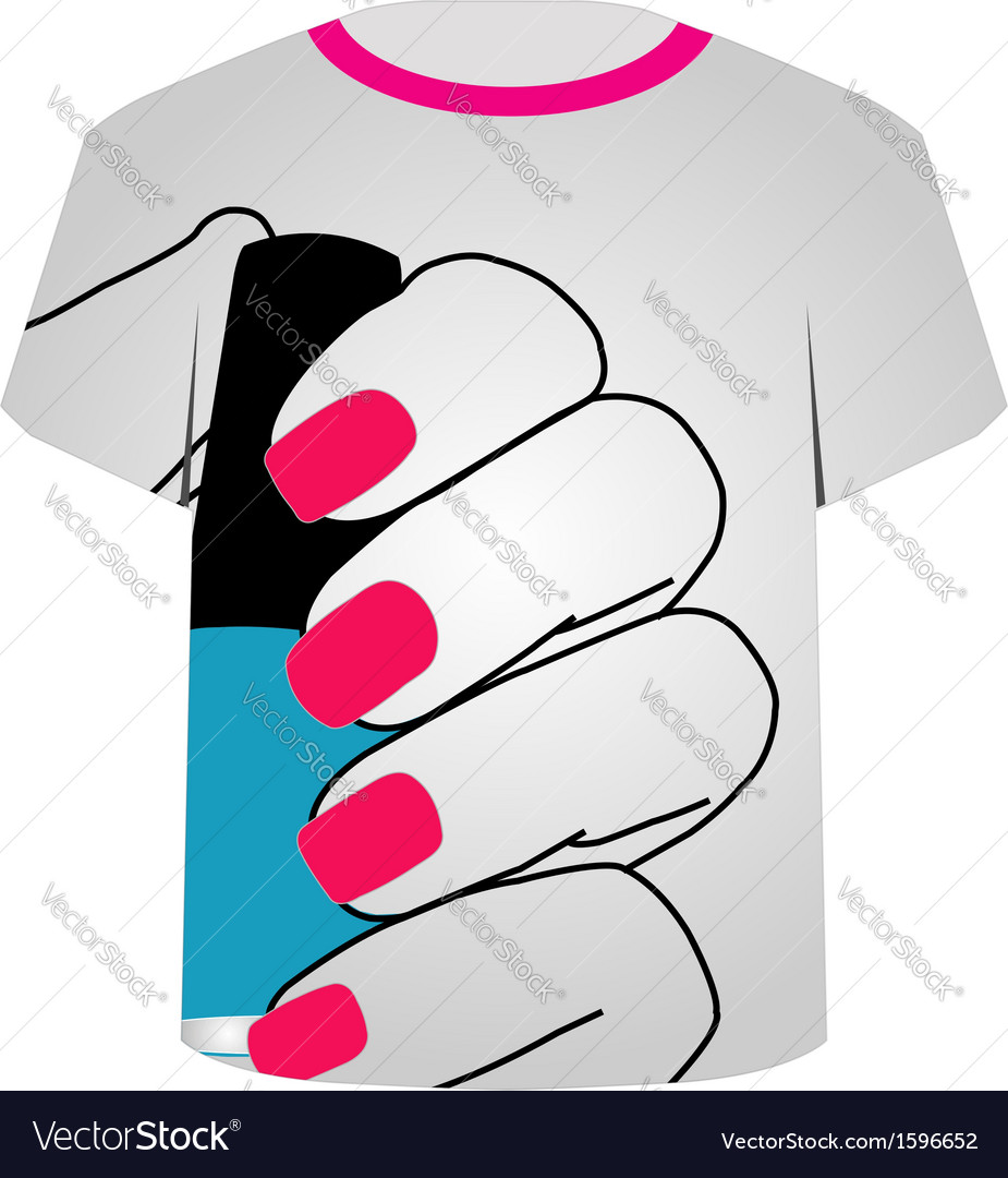 graphic relating to Printable Nails known as Printable tshirt image- Painted nails