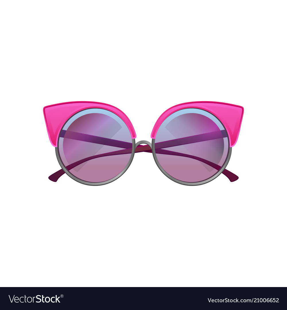 8eb61d4576649 Round sunglasses with pink metal frame and purple Vector Image