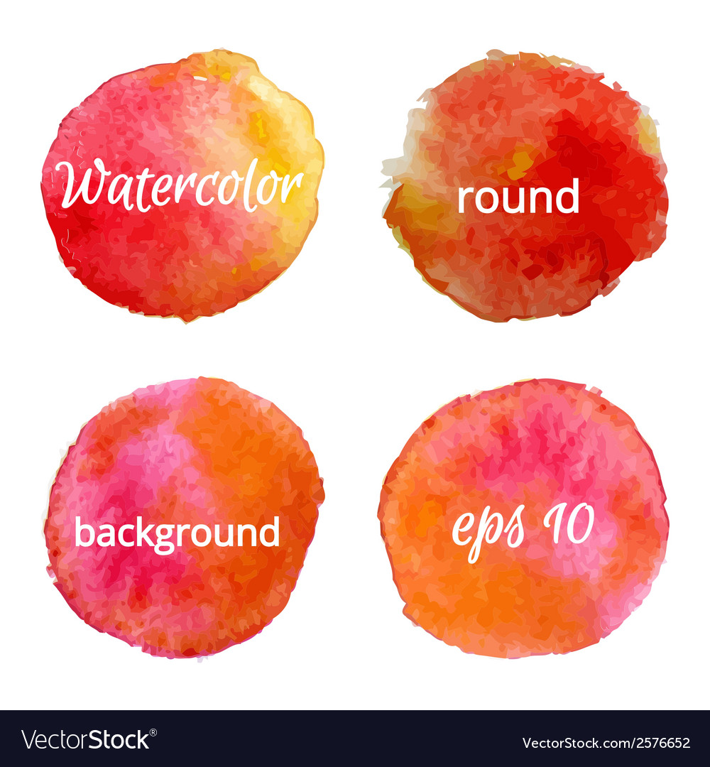 Round water color backgrounds