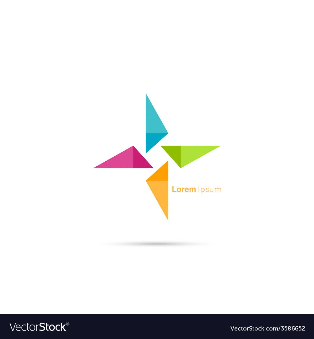 Triangle social beauty logo icon
