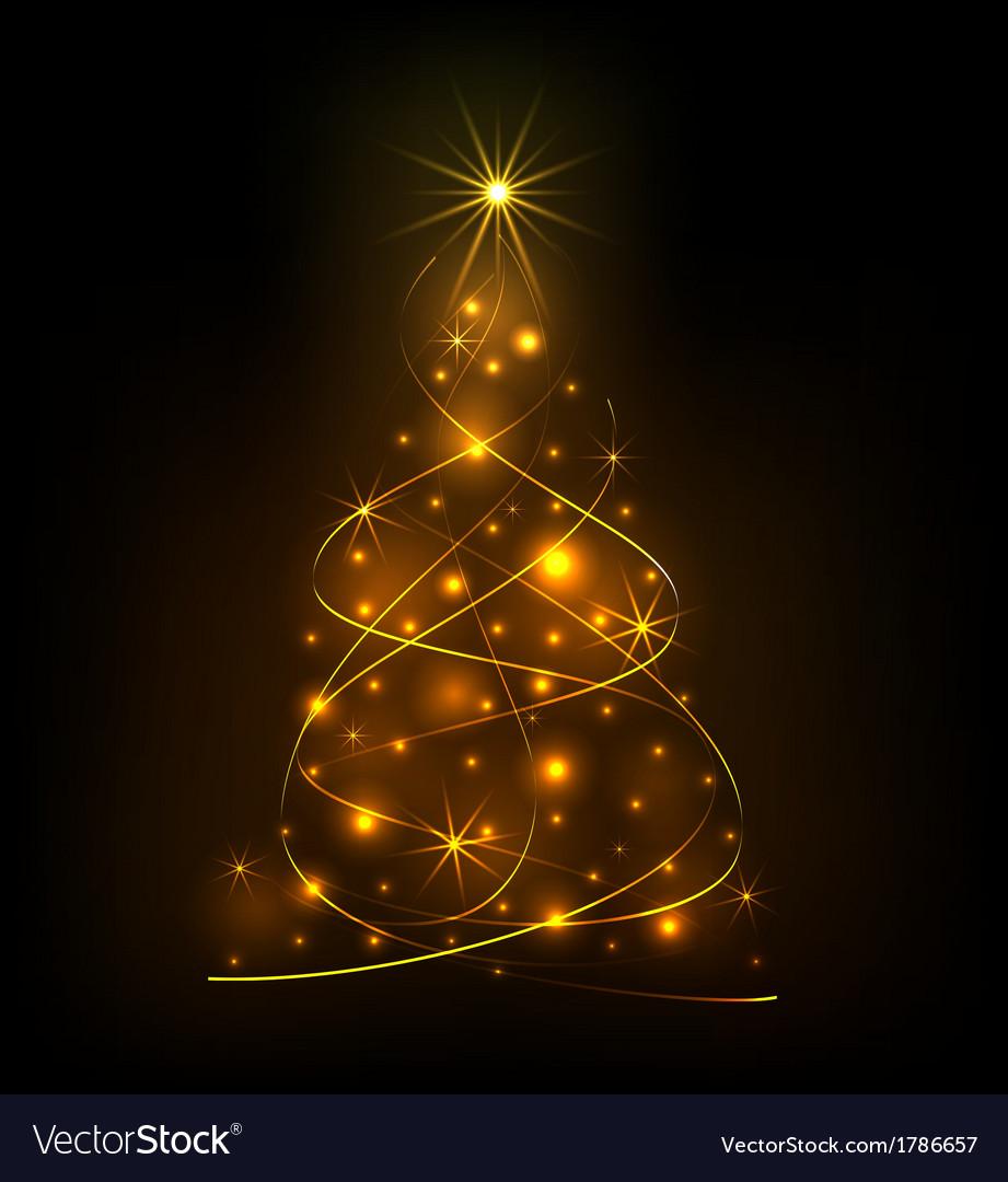 Abstract light Christmas tree