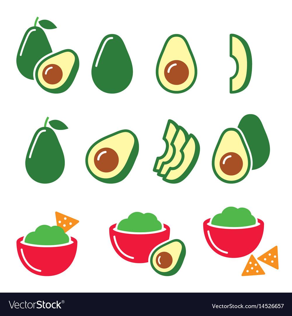 Avocado cut in half fruit guacamole with nachos
