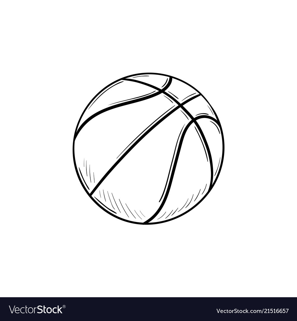 Basketball ball hand drawn outline doodle icon