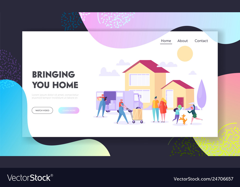 Bringing home landing page supply large household