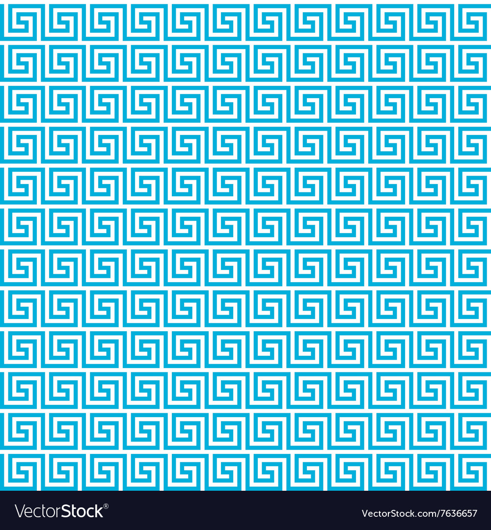 Greek Seamless Pattern Background Blue And White Vector Image