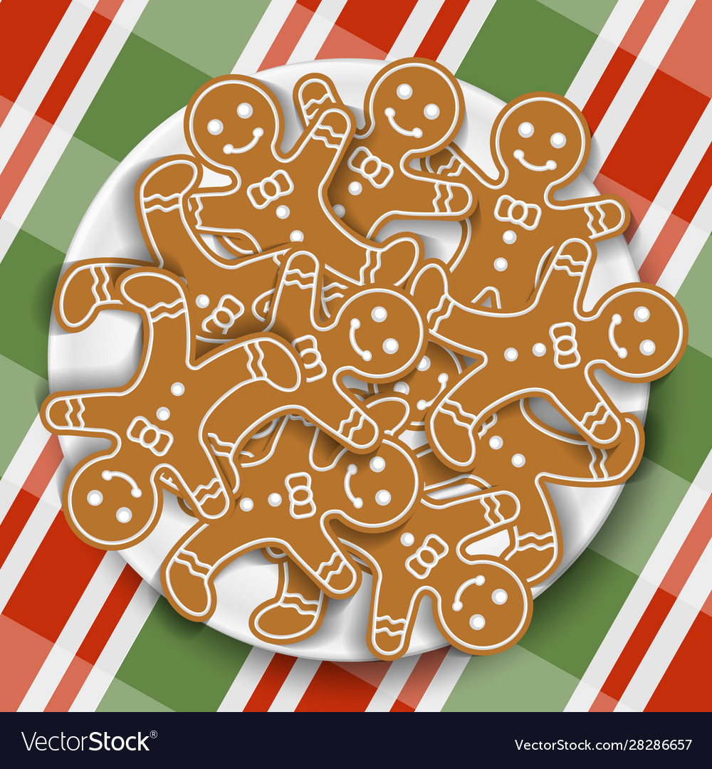 Holiday gingerbread man cookies