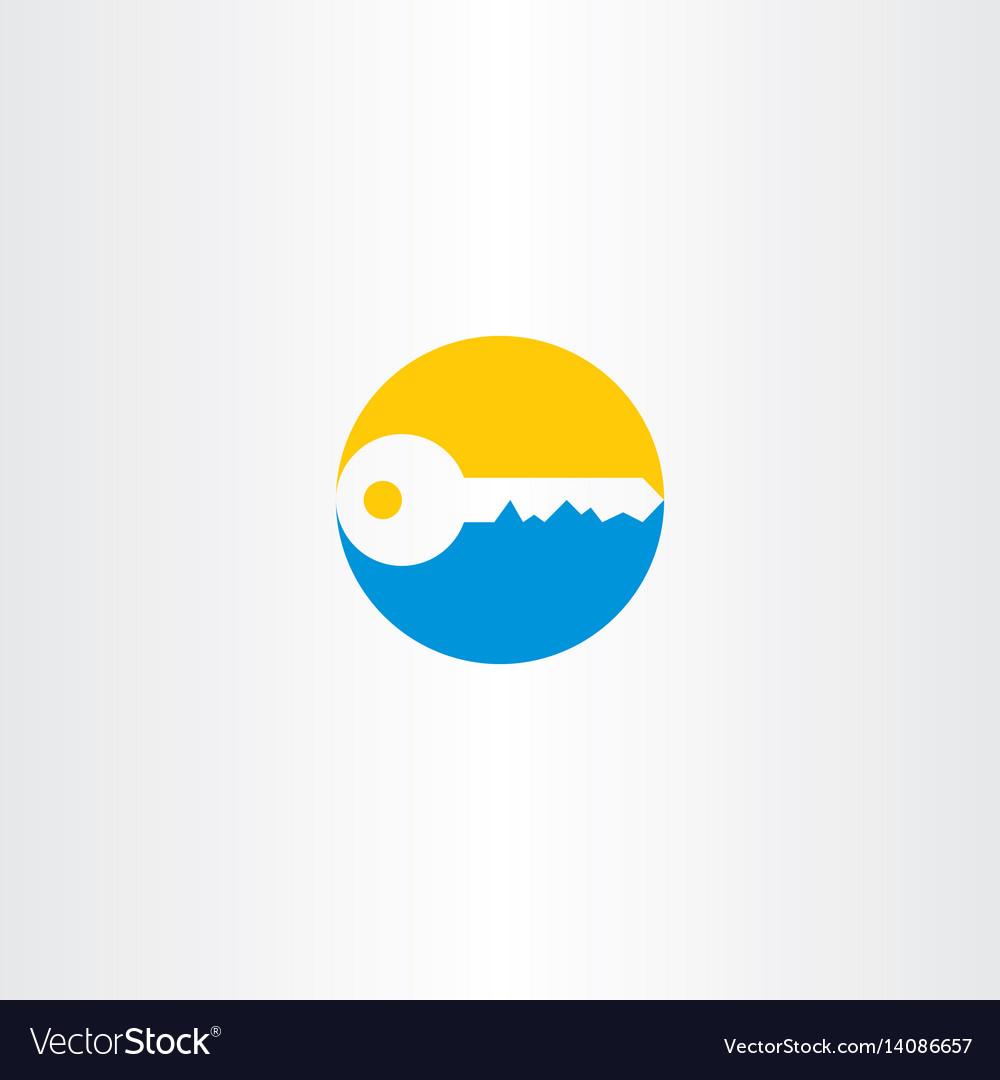 Key logo design element vector image