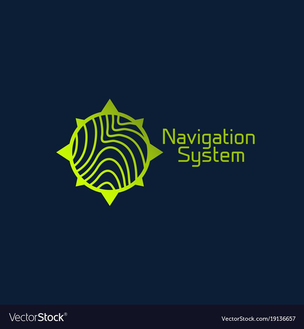 Navigation system logo