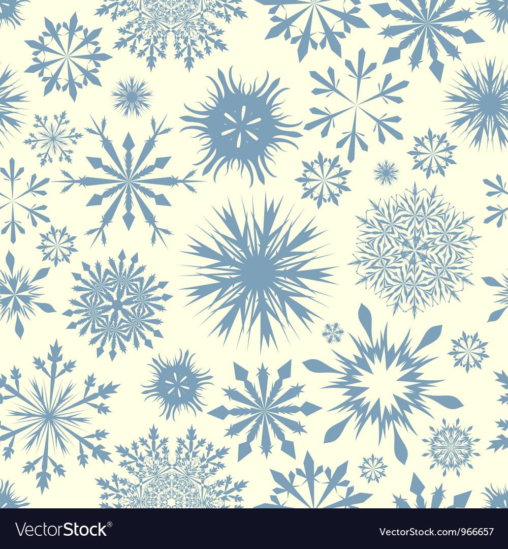 Snowflakes seam vector image