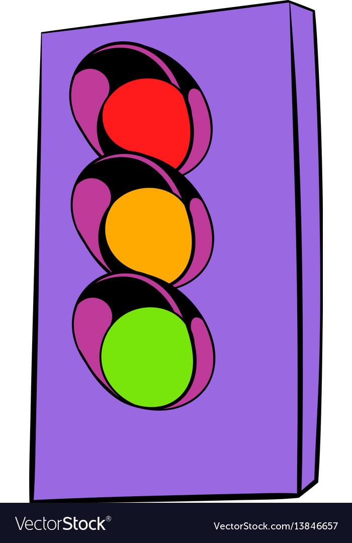 Traffic light icon icon cartoon