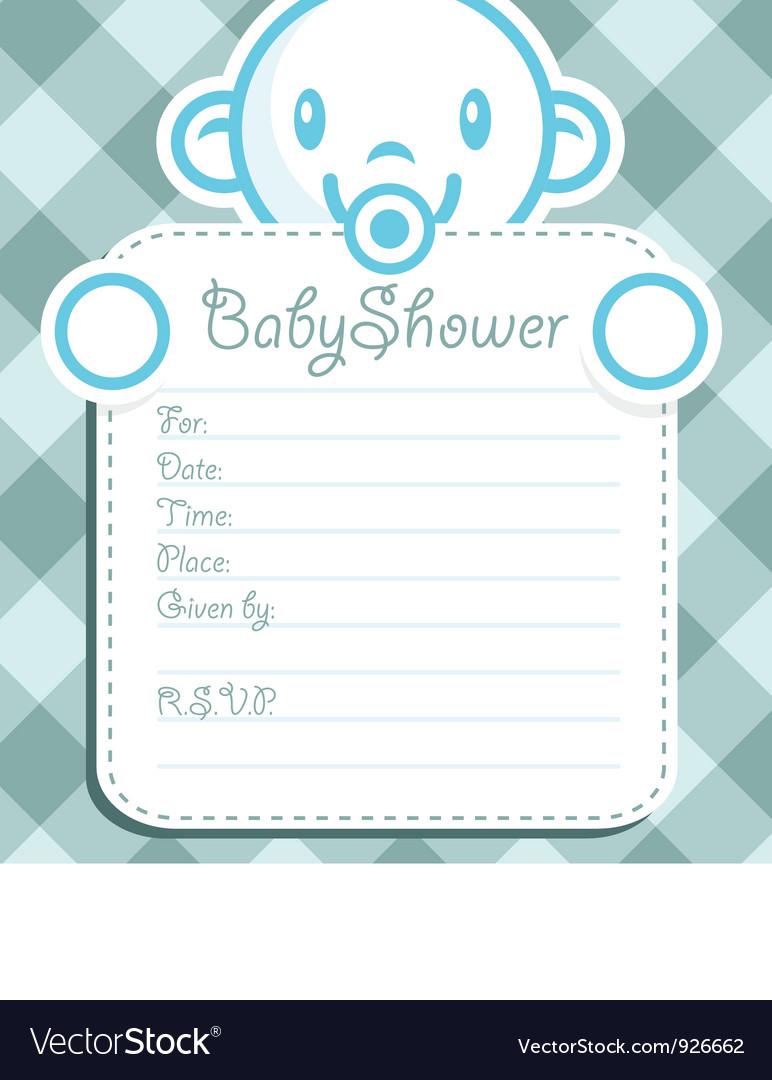 blue baby boy invitation royalty free vector image
