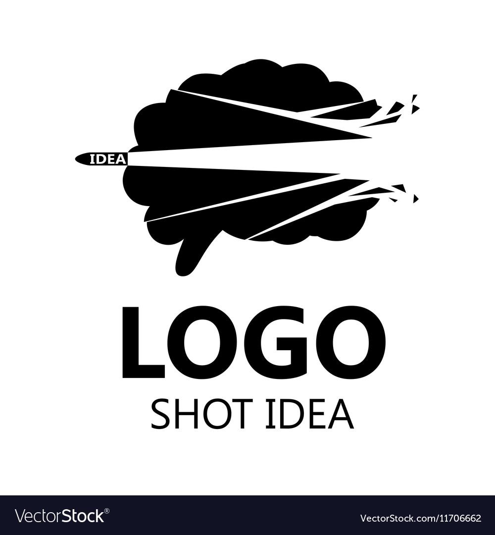 Brain Logo silhouette design