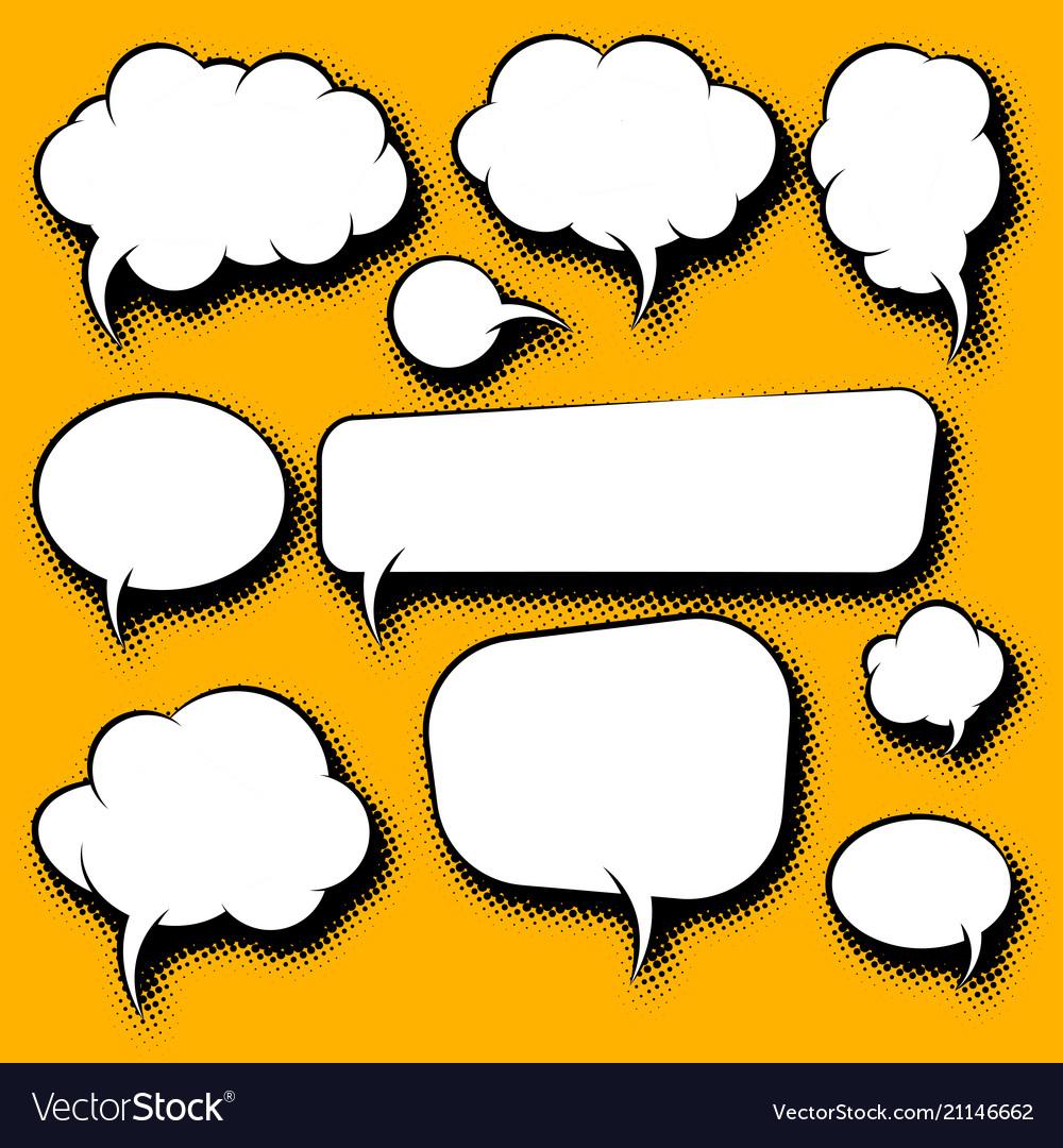 Cartoon speech bubbles