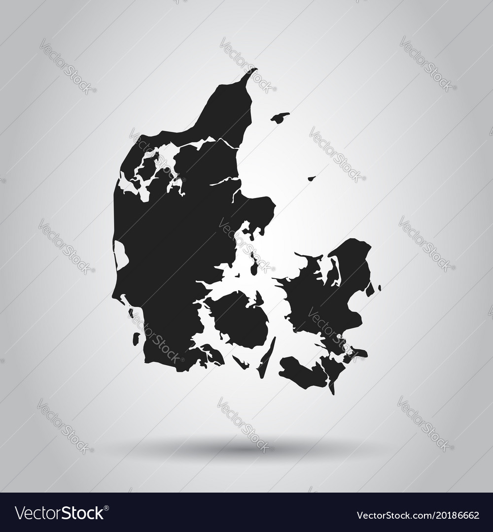 Denmark map black icon on white background vector image gumiabroncs Images