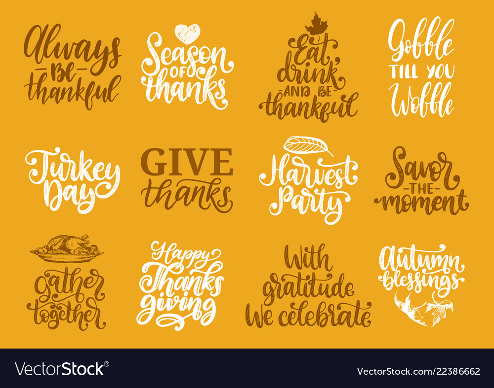 Give thanks turkey time etc handwritten