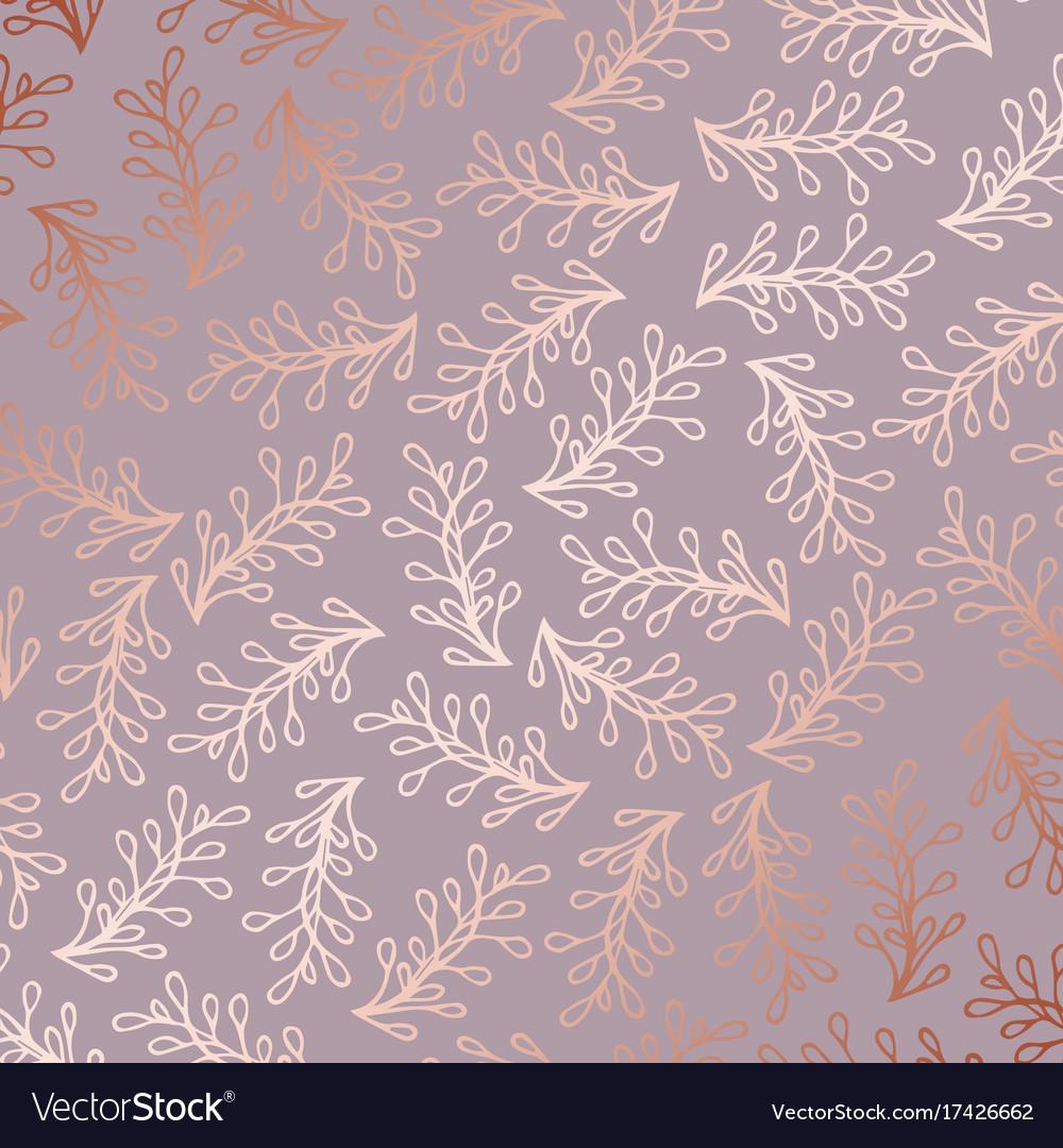 Rose Gold Elegant Decorative Floral Pattern For
