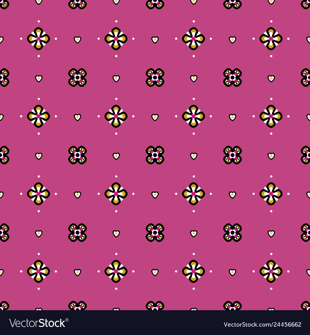 Seamless pattern in fantasy medieval style with