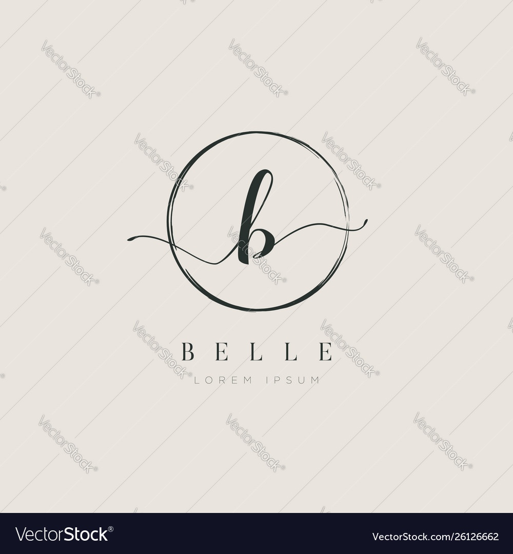 Simple elegant initial letter type b logo sign