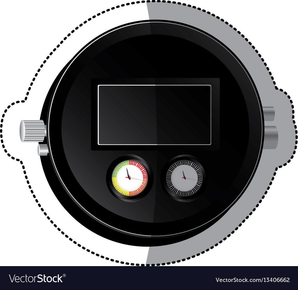 Sticker black screen digital chronometer