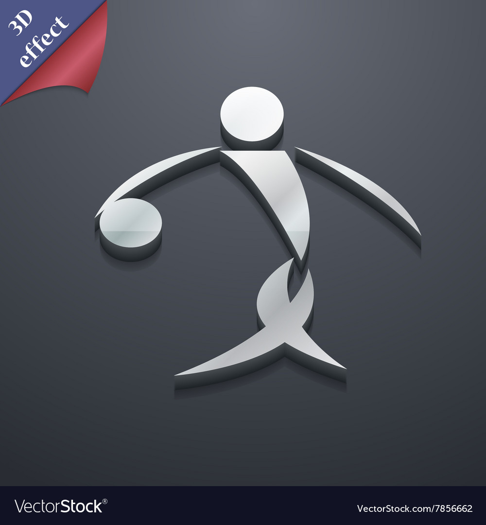 Summer sports basketball icon symbol 3D style