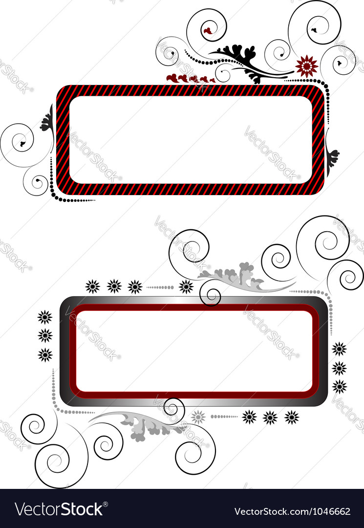 Two banners vector image