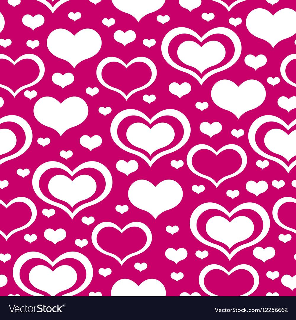 Valentine heart pattern purple