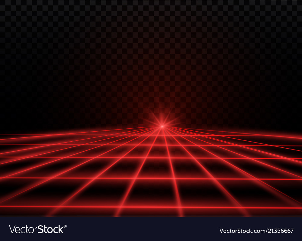 Abstract red laser beam transparent isolated on