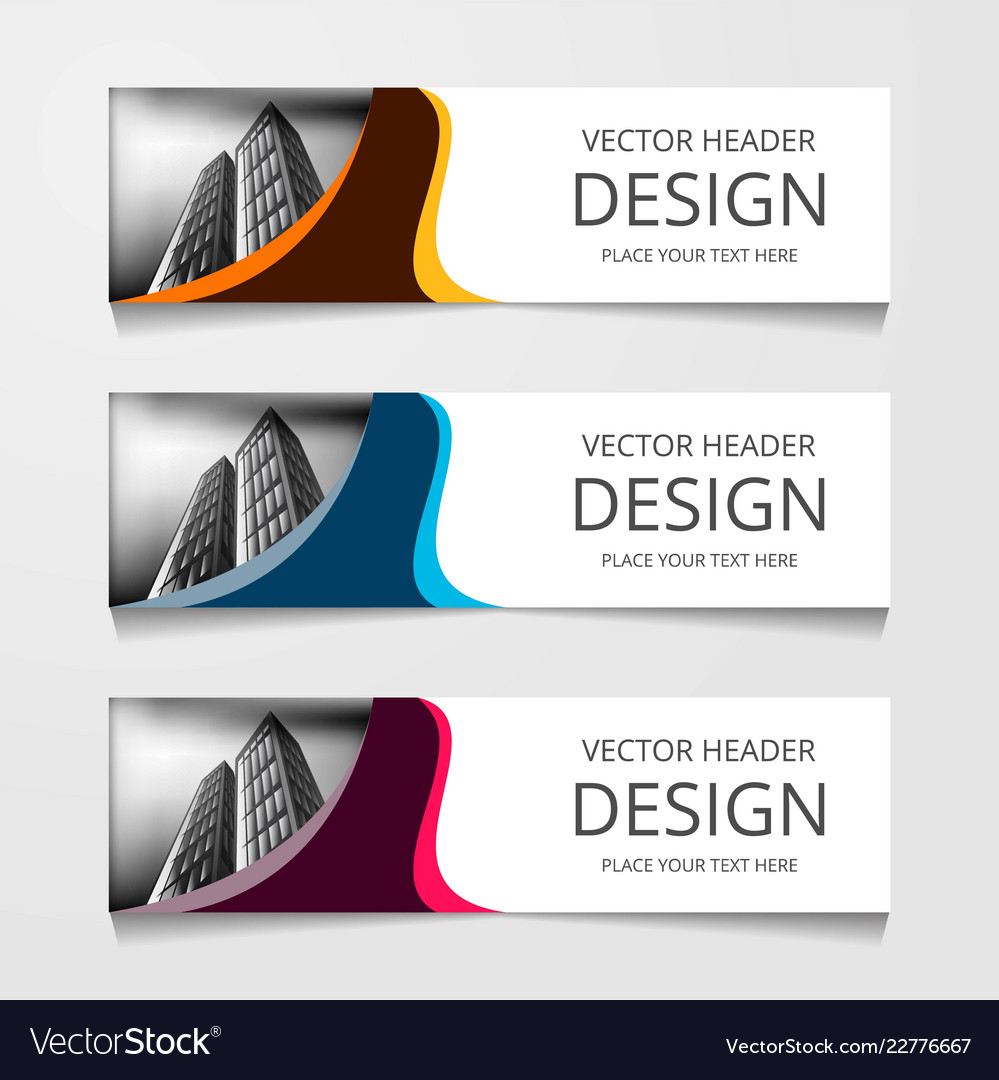 Abstract web banner design background or header