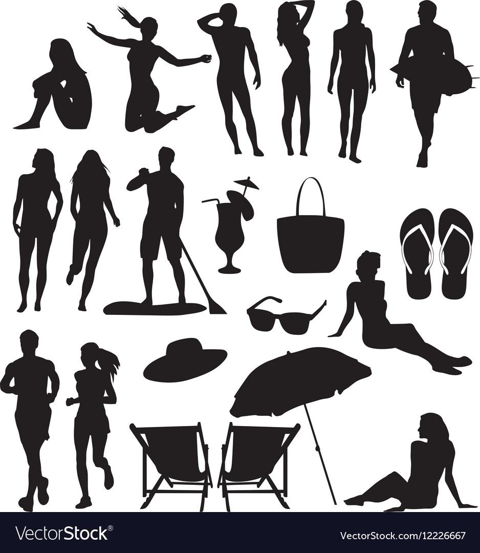 Beach-silhouettes